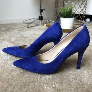 Nine West Suede Stiletto Pointy Toe Heels